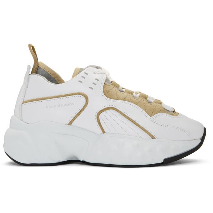 McQ Alexander McQueen SSENSE Exclusive White & Beige Manhattan Sneakers