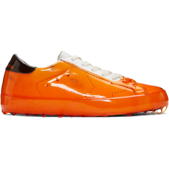Orange Skate Dip Superstar Sneakers Golden Goose