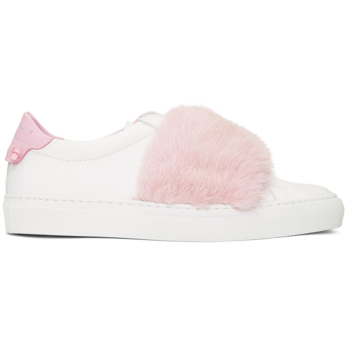 White and Pink Mink Urban Knots Sneakers Givenchy
