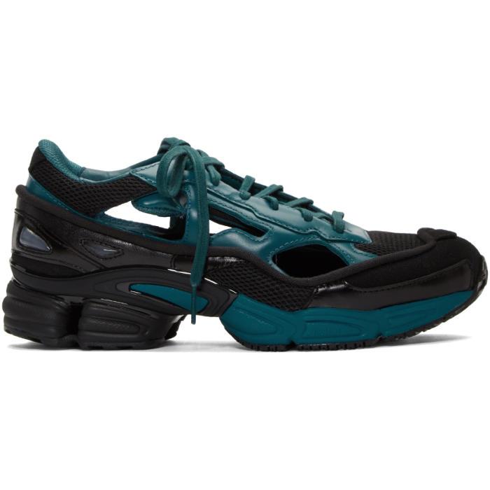 Raf Simons Black & Blue adidas Originals Edition Ozweego Replicant Sneakers