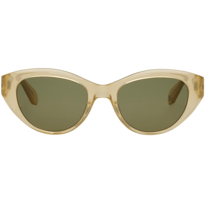 GARRETT LEIGHT Gold & Green Del Rey Sunglasses