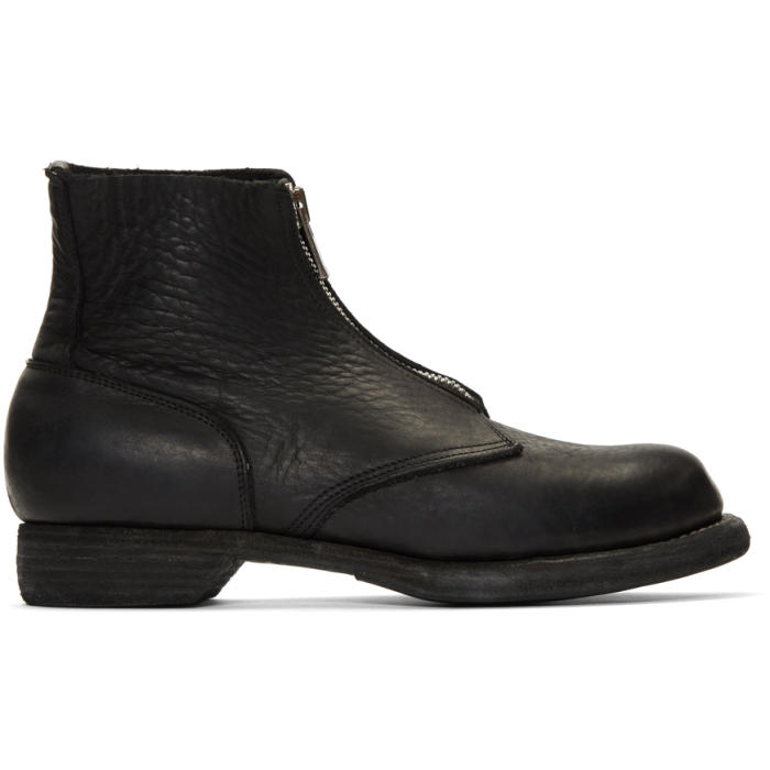 GUIDI Soldato Front Zip Boots