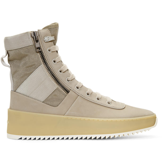 Jungle Nubuck And Canvas High-top Sneakers - BlackFear of God