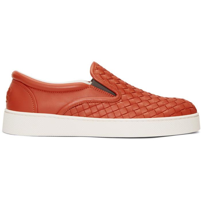 Bottega Veneta Navy Multistripe Sneakers