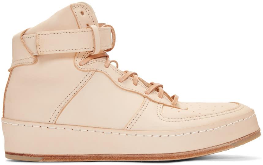 Mip-01 Leather High-top Sneakers - BeigeHENDER SCHEME