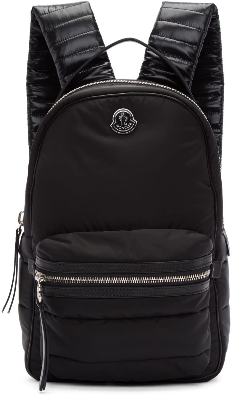 Moncler Black Nylon Georgette Backpack