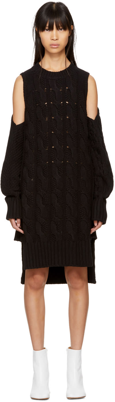 Mm6 Maison Margiela Black Gauge 5 Sweater Dress