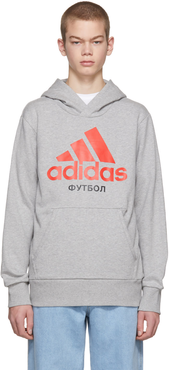Gosha Rubchinskiy Grey Adidas Originals Edition Hoodie
