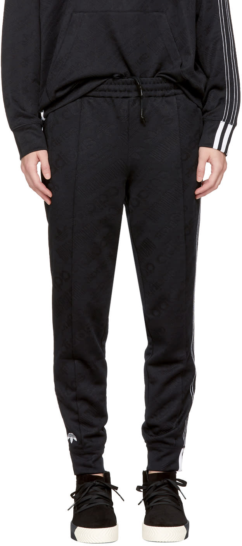 Adidas Originals By Alexander Wang Black Aw Jacquard Track Pants
