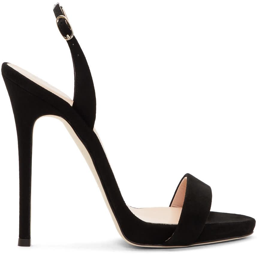 Giuseppe Zanotti Black Coline Plunge Sandals