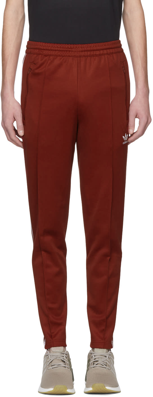 adidas Originals Men's Beckenbauer Track Jacket Rust Red