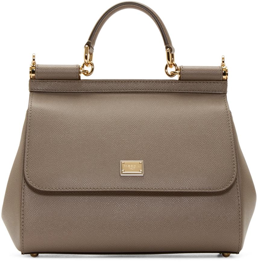 Taupe Medium Miss Sicily Bag