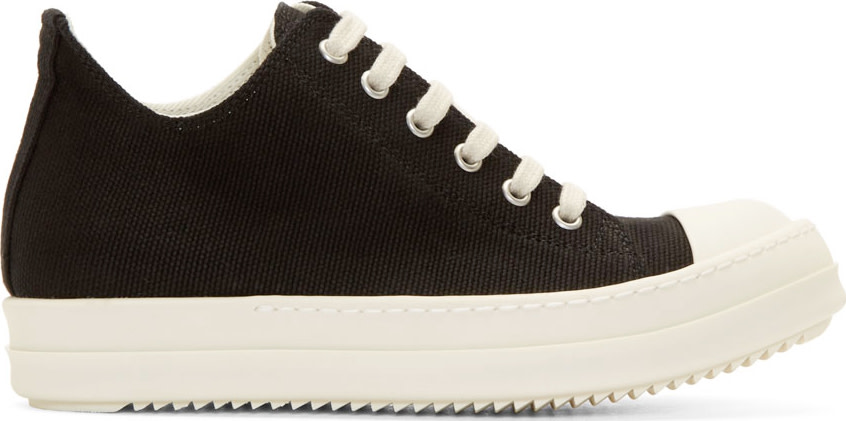 RICK OWENS DRK SHDW WOMEN'S BLACK LOW SNEAKERS