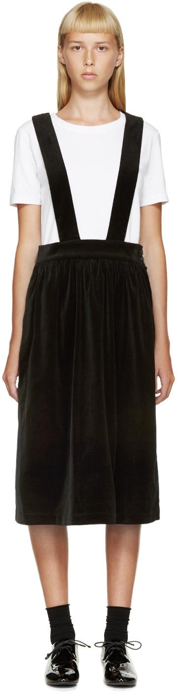 Comme des Garçons Girl Black Velvet Suspender Dress