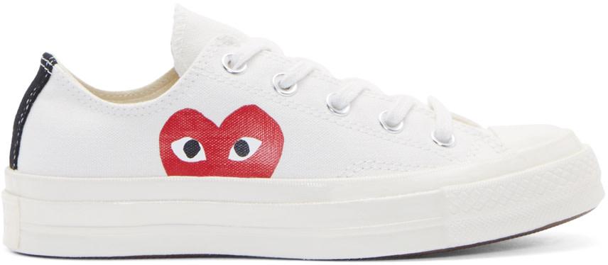 Comme des Garçons Play White Heart Logo Converse Edition Sneakers