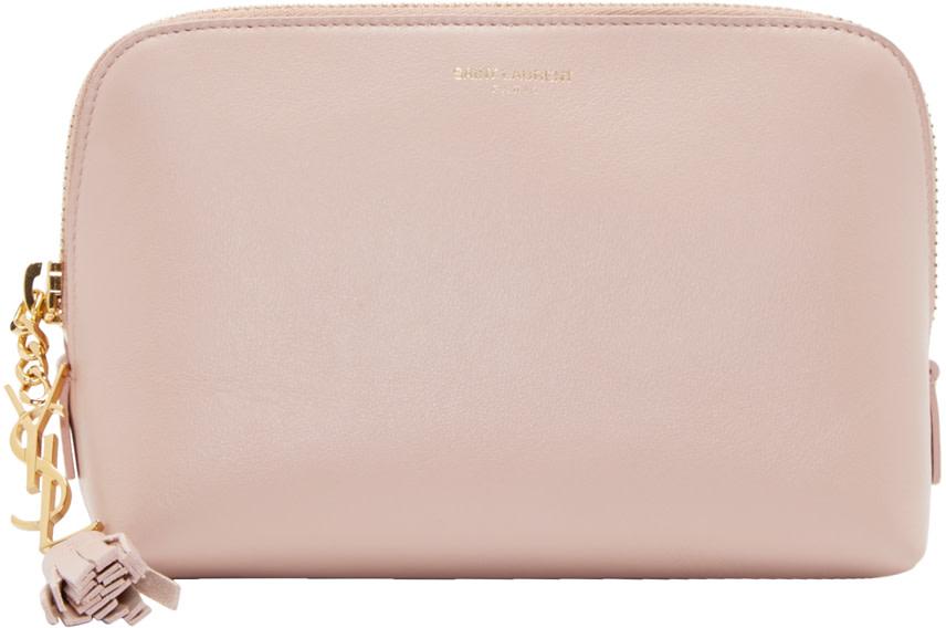 Saint Laurent Blush Leather Paris Cosmetic Case
