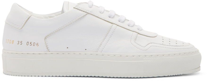 Woman By Common Projects White Low Top B Ball Sneakers