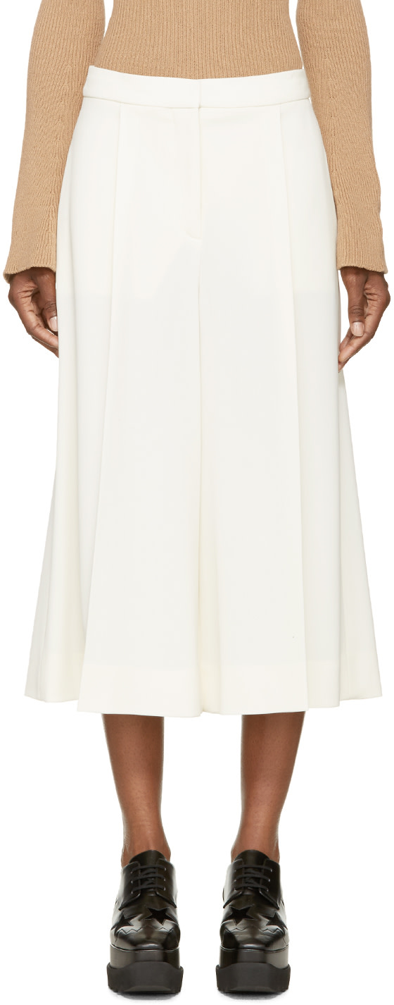 Olivier high-rise wide-leg cropped trousers