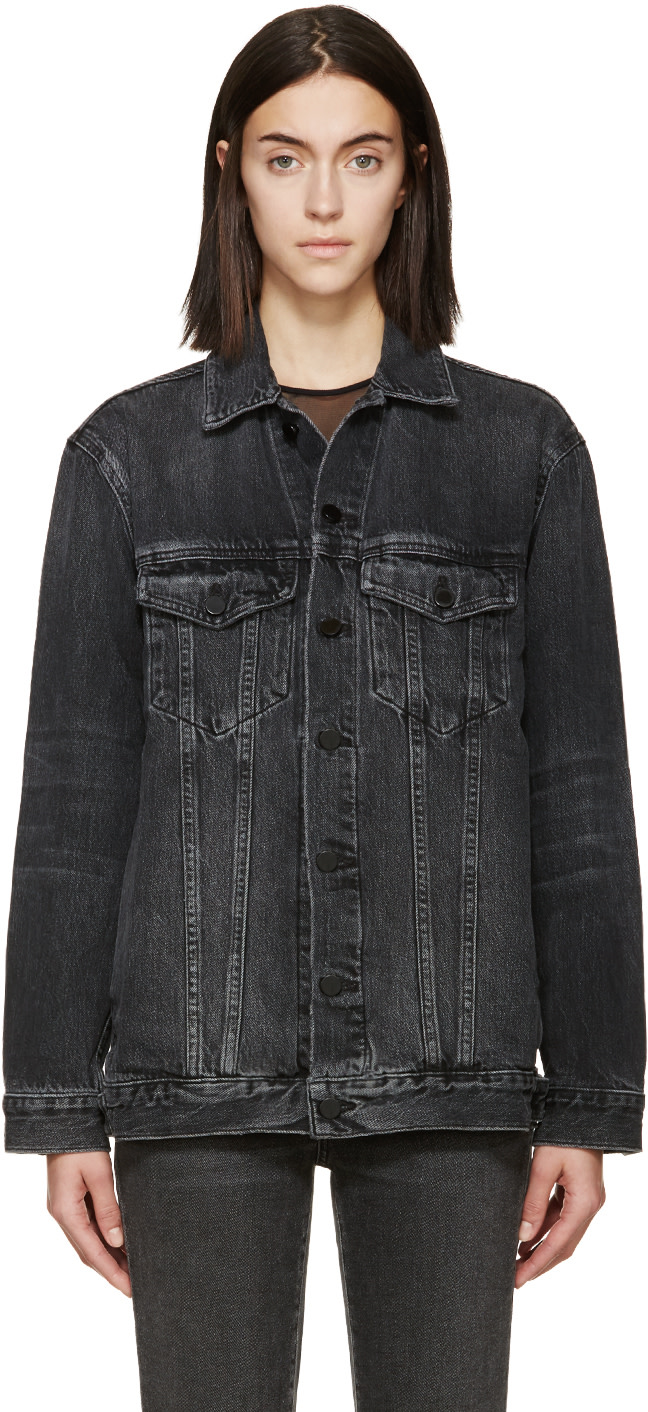 Grey Oversized Denim Daze Jacket, Grey Aged
