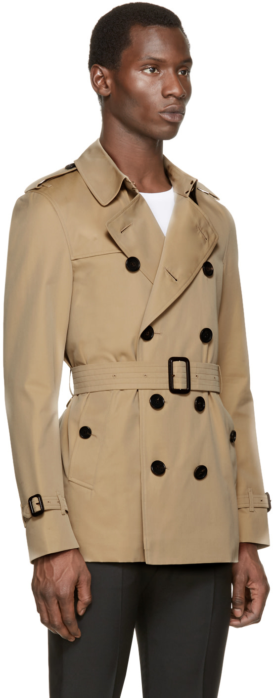 Burberry London Tan Short Sandringham Trench