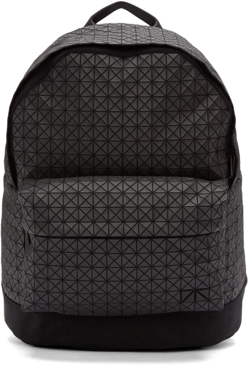 Bao Bao Issey Miyake Black Geometric Daypack Backpack