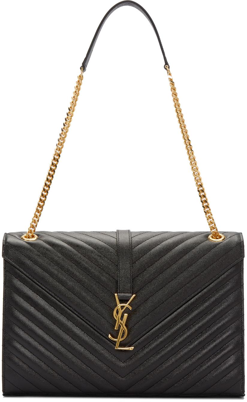 ysl clutch sale - classic large college monogram saint laurent bag in dark ...