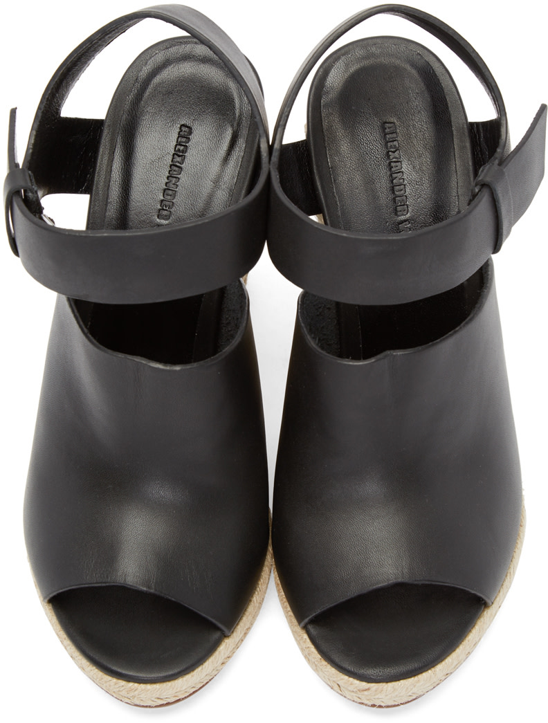 Alexander Wang - Black Leather Tori Sandals