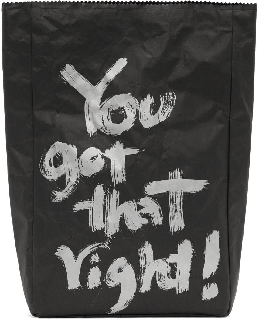 Yohji Yamamoto - Black Japanese Paper Pouch