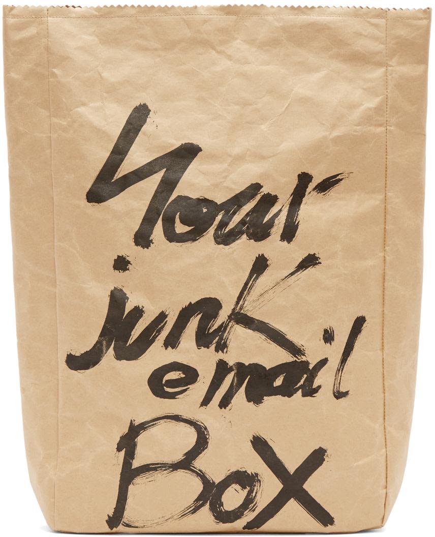 Yohji Yamamoto - Brown Japanese Paper Pouch
