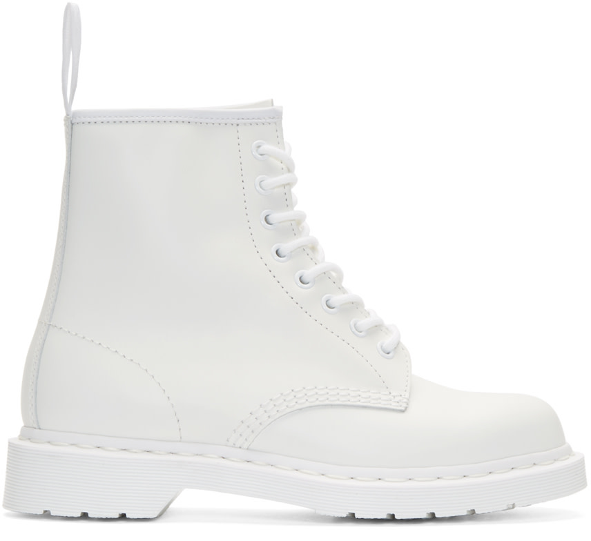 Dr. Martens White 8 Eye 1460 Mono Boots on PopScreen