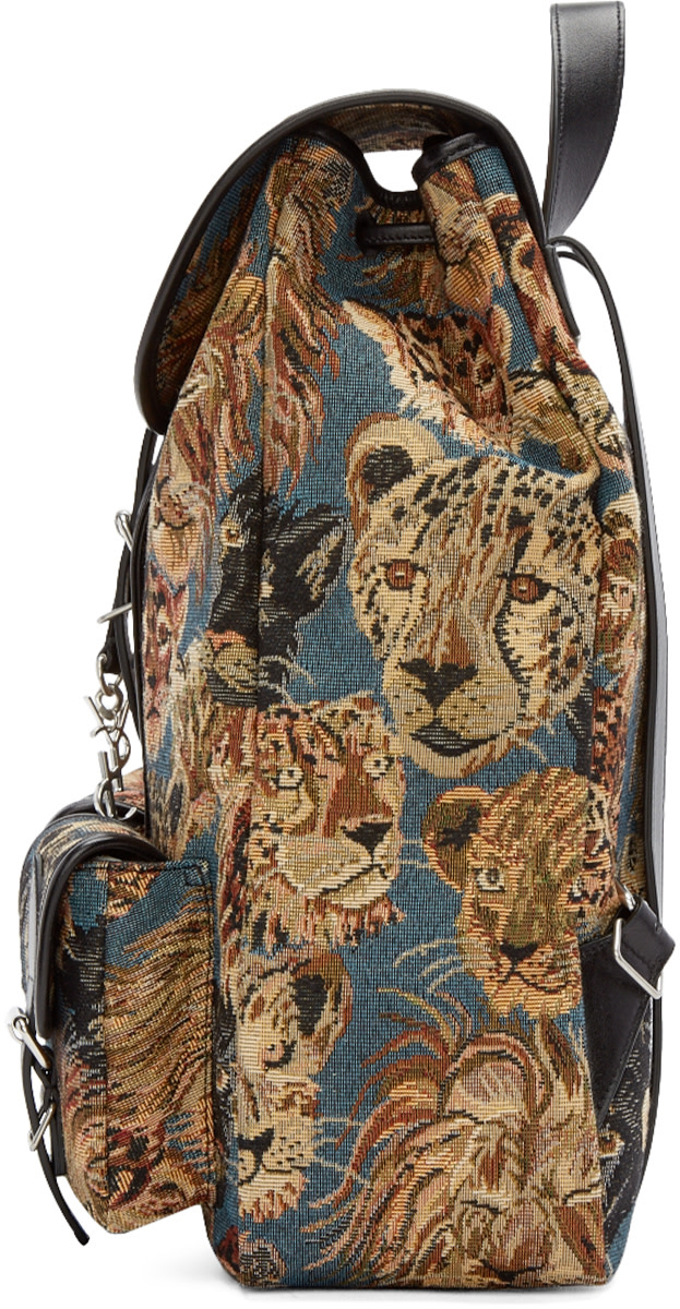 discount ysl shoes - festival backpack in black and multicolor prairie flower printed ...