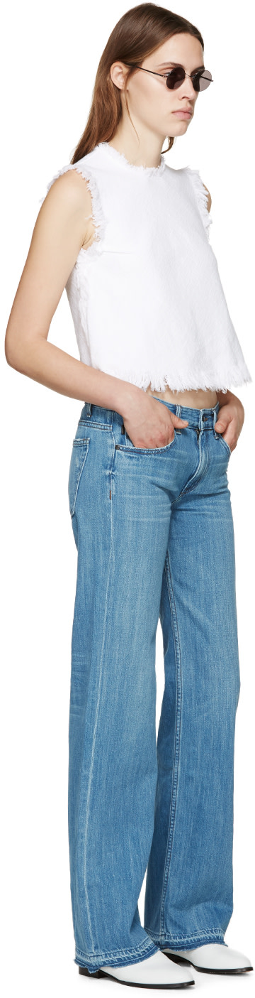 HELMUT LANG Blue Vintage Flare Jeans