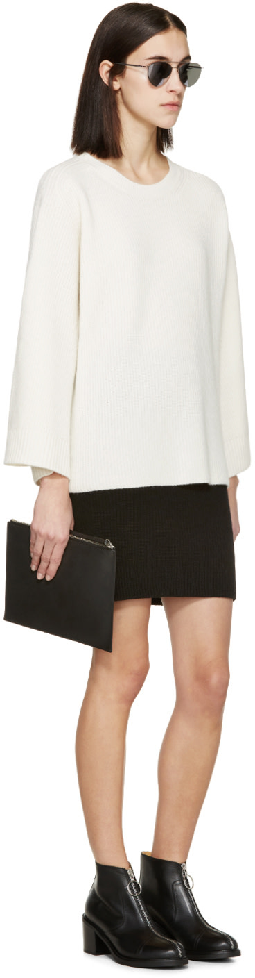 HELMUT LANG Cream Wool & Cashmere Sweater