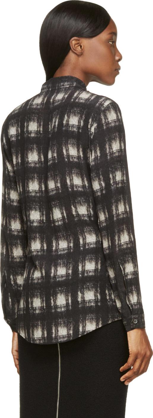 DAMIR DOMA Black Silk Santolina Shirt