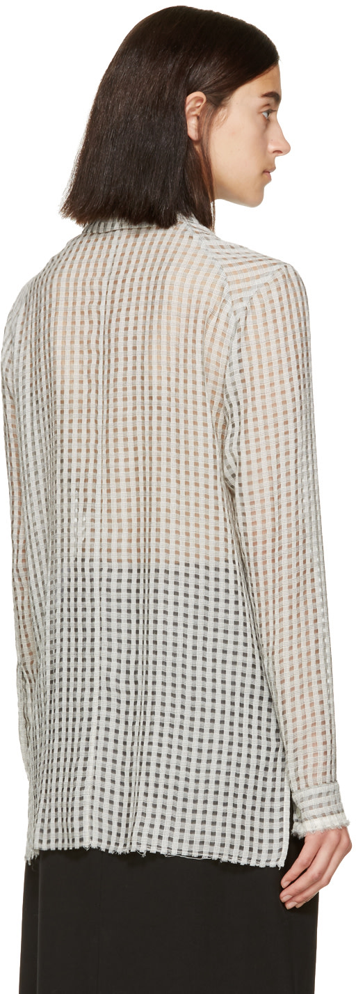 DAMIR DOMA Grey Wool Sibe Shirt
