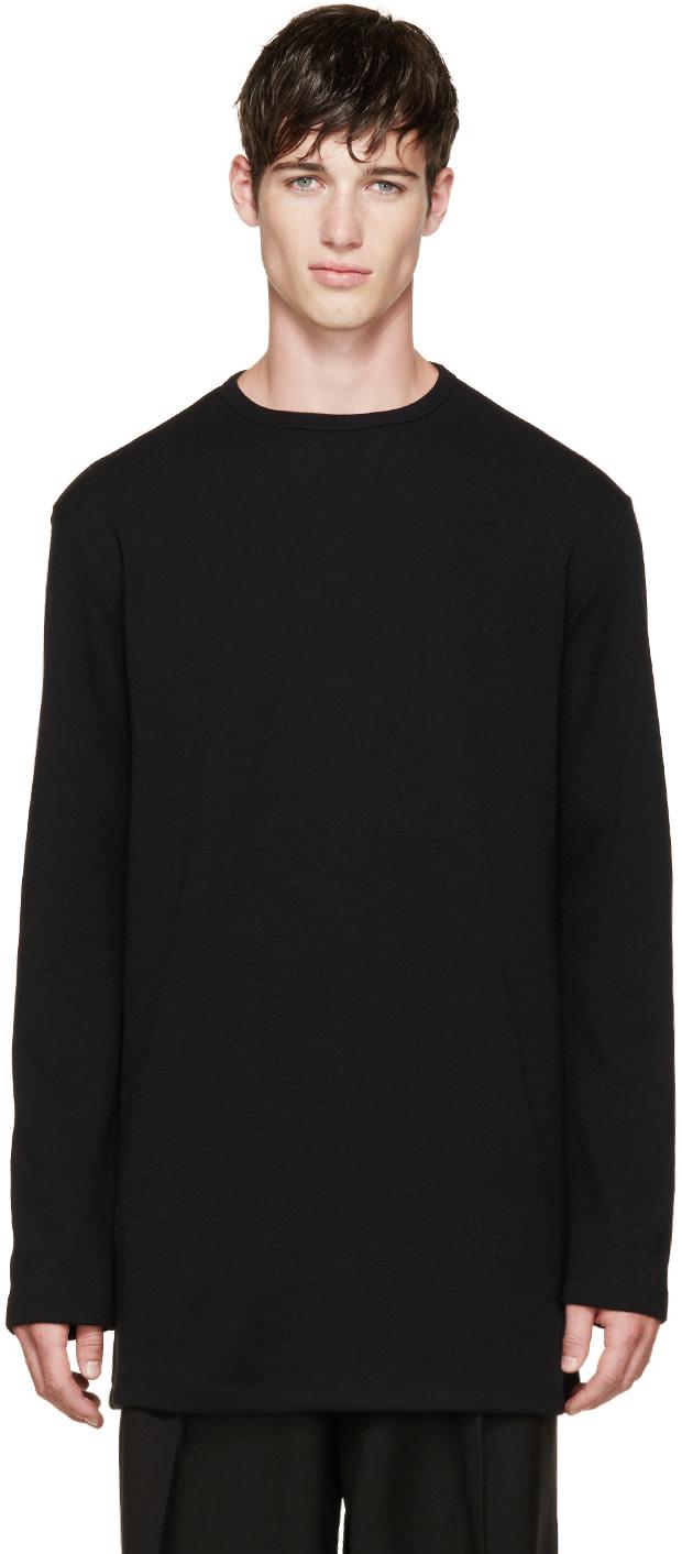 THAMANYAH Black Merino Knit Sweater