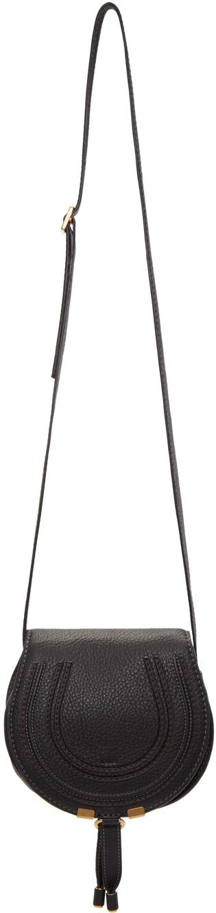 chloe handbags - CHLO�� Black Small Marcie Saddle Bag