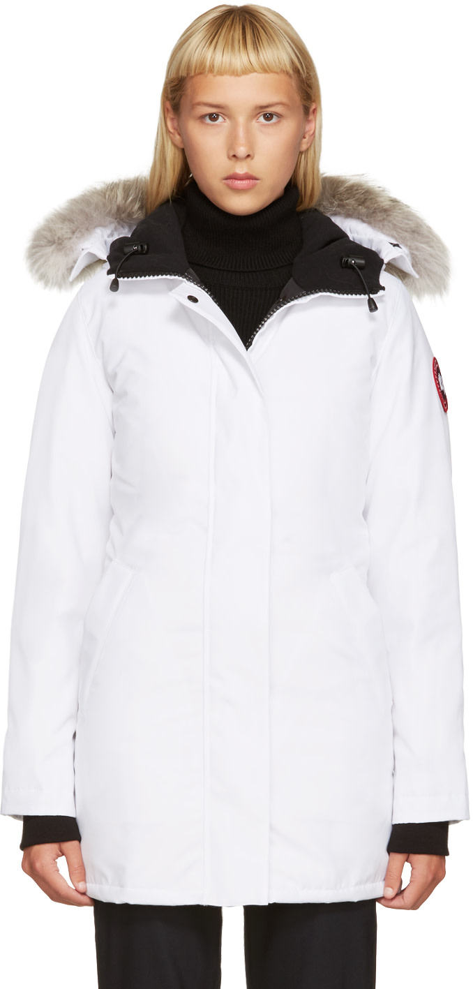 Canada Goose womens online 2016 - CANADA GOOSE White Down Victoria Parka