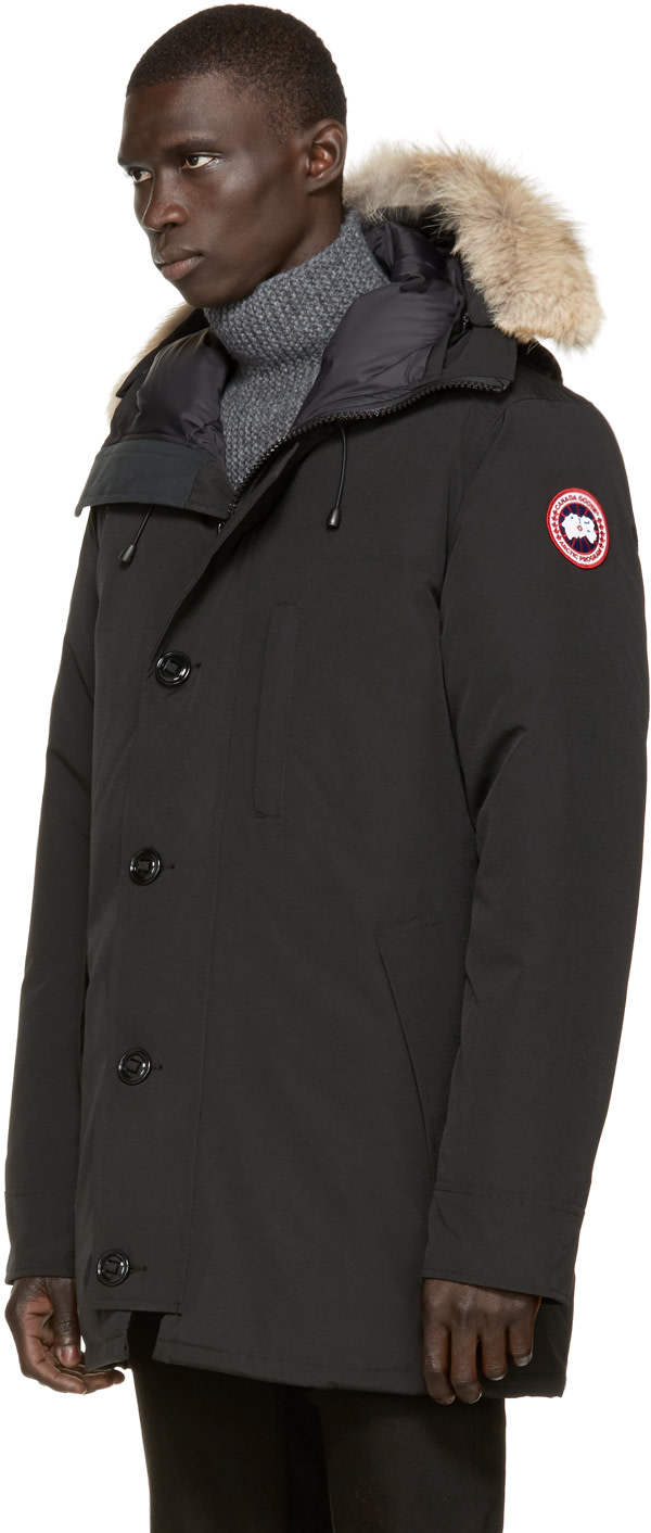 Canada Goose coats sale discounts - Canada Goose: Black Down & Fur Chateau Parka | SSENSE