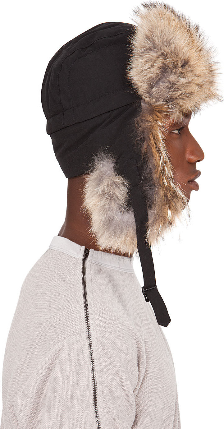 Canada Goose expedition parka replica 2016 - Canada Goose: Black Coyote Fur Aviator Hat | SSENSE