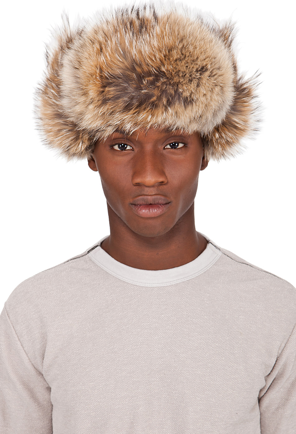 Canada Goose down outlet 2016 - Canada Goose: Black Coyote Fur Aviator Hat | SSENSE