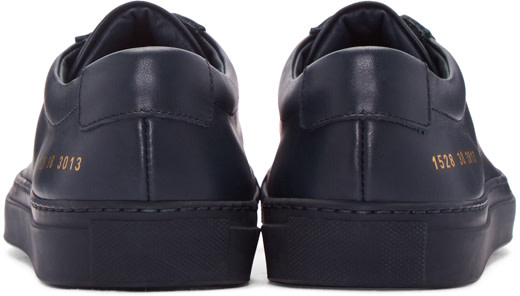COMMON PROJECTS Original Achilles Patent Leather Low-Top Trainers in Black