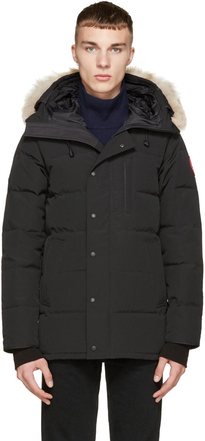 Canada Goose toronto sale authentic - Canada Goose: Black Down & Fur Black Label Carson Parka | SSENSE