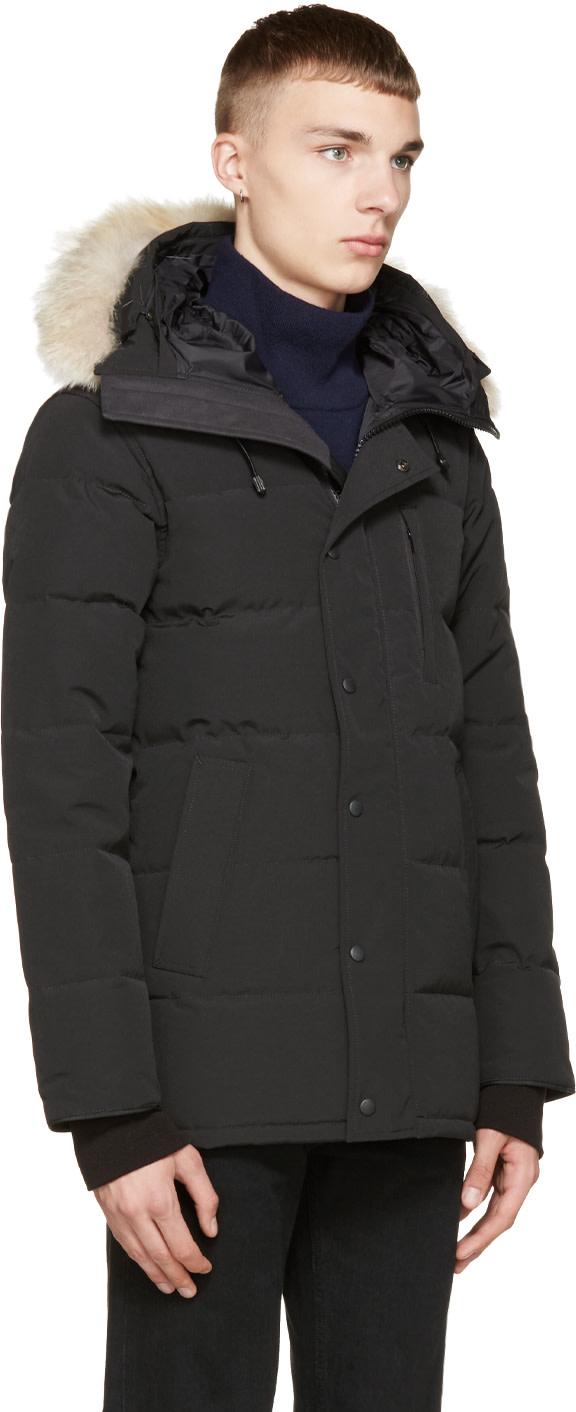Canada Goose victoria parka sale discounts - Canada Goose: Black Down & Fur Black Label Carson Parka | SSENSE