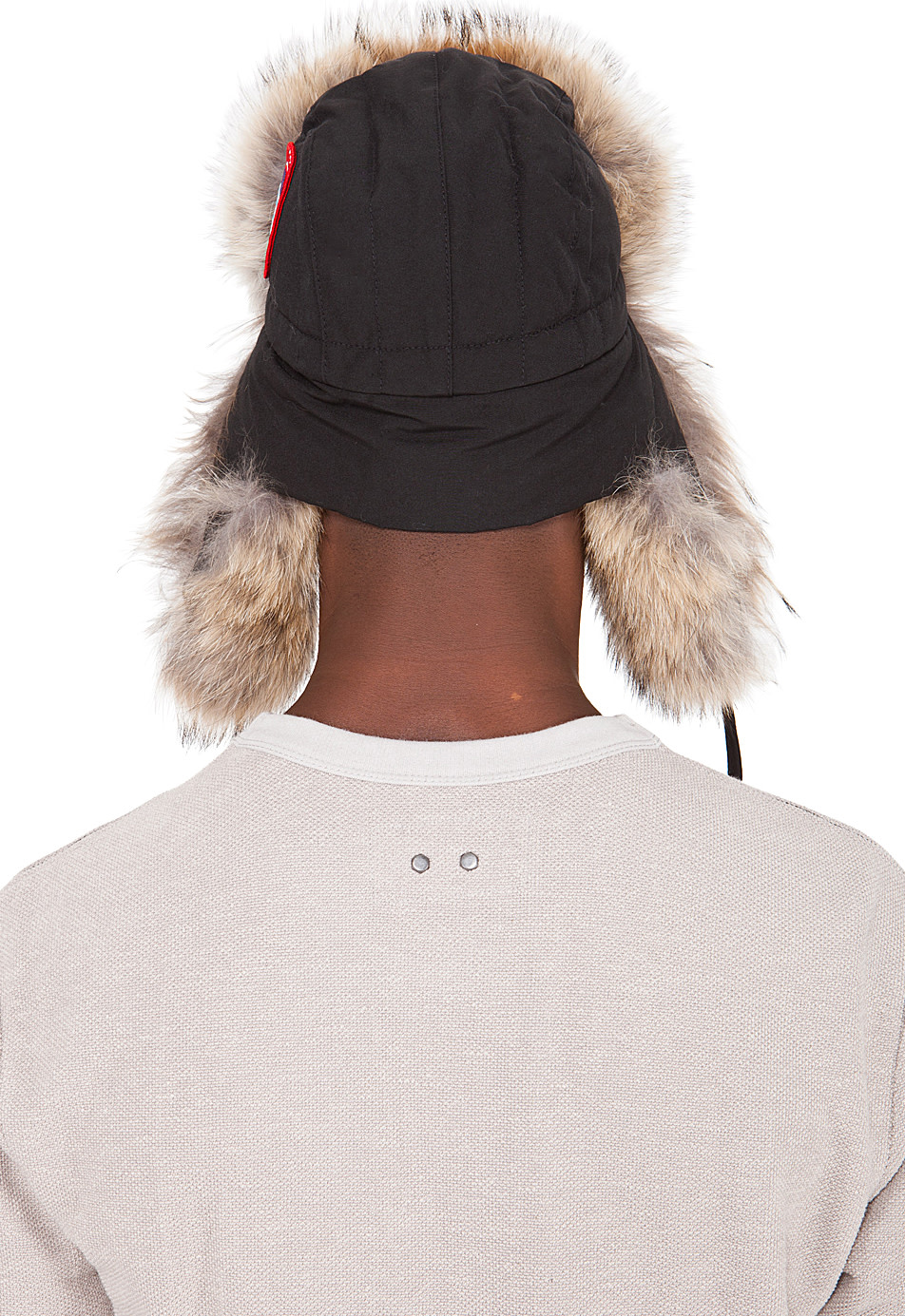Canada Goose coats replica 2016 - Canada Goose: Black Coyote Fur Aviator Hat   SSENSE