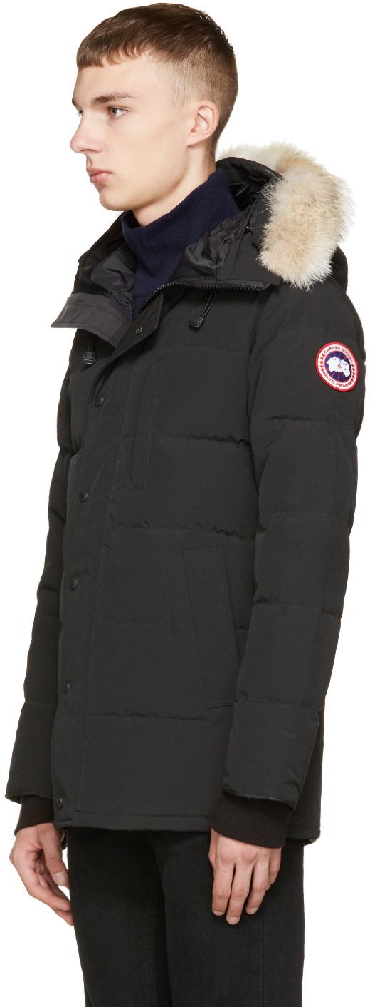 Canada Goose montebello parka replica price - Canada Goose: Black Down & Fur Black Label Carson Parka | SSENSE