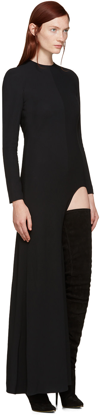 BALMAIN Suedes Black Suede Catherine Over-the-Knee Boots
