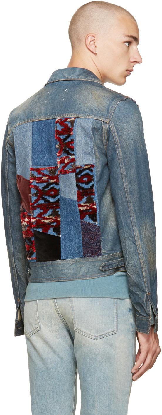 MAISON MARGIELA Denims Indigo Denim Patchwork Jacket