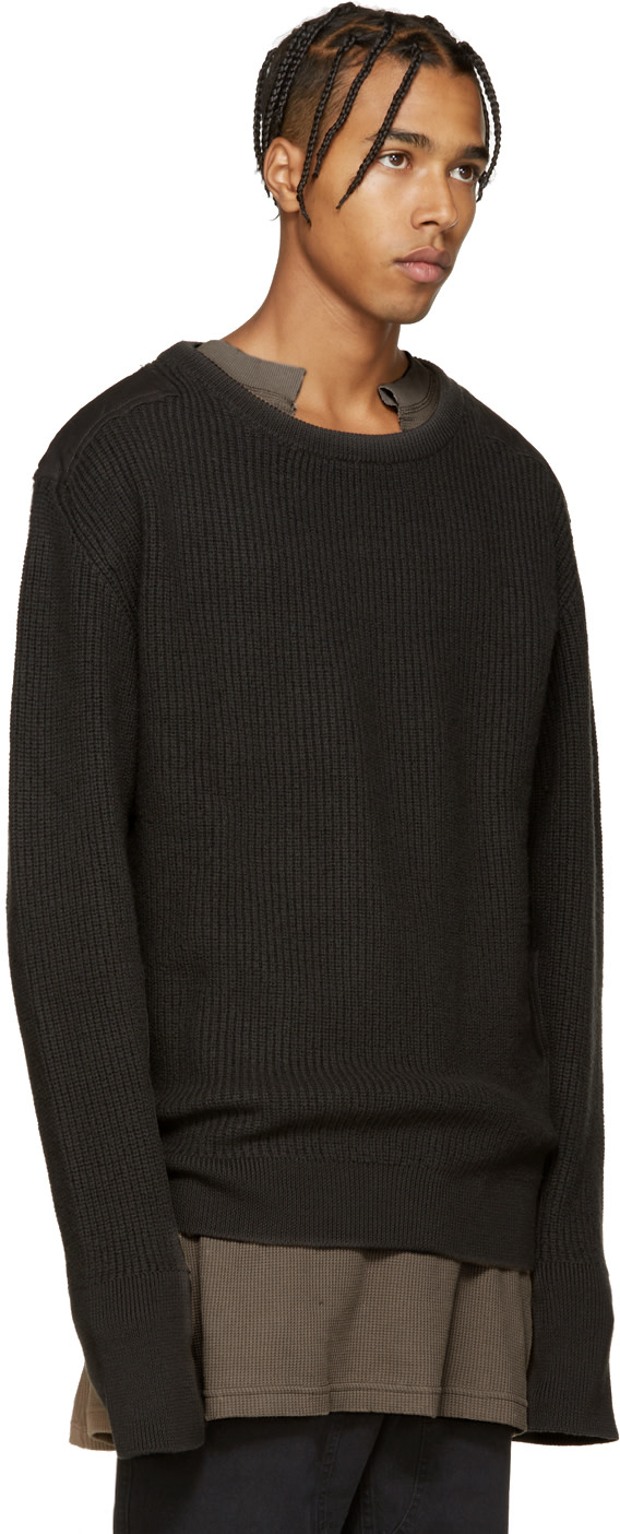 YEEZY Season 1 - Grey Wool Undestroyed Sweater