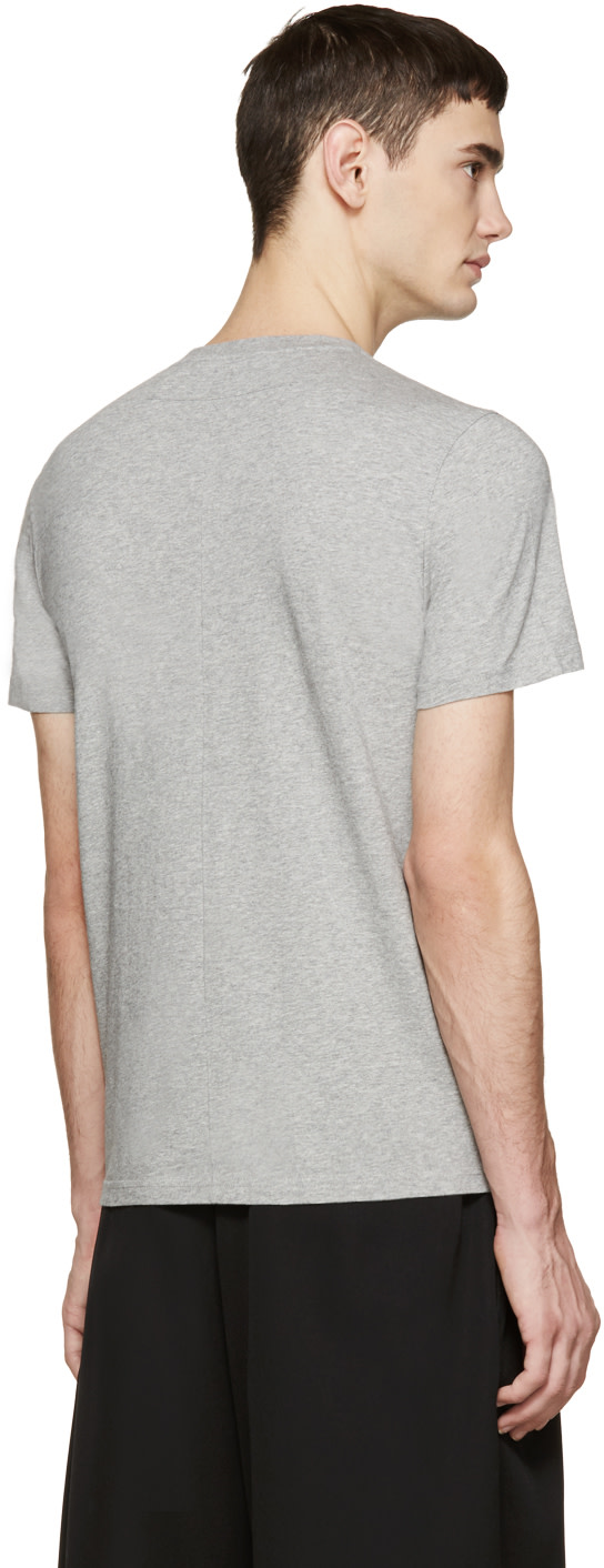 Givenchy grey rottweiler t shirt ssense for Givenchy t shirt size chart